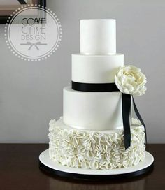 Black  White cake.....Inspired by a Vera Wang gown