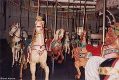 The horses awaiting their fate after the park closing. The carousel was saved by the people of Holyoke, restored and relocated to Heritage State Park, where it operates today. Holyoke, MA.