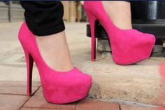 Fantastic Tips: Shoes Mocasin Zapatos shoes closet with doors.Cute Shoes Hipster tennis shoes for girls. Rosa High Heels, Cute High Heels, Cute Shoes, Me Too Shoes, Trendy Shoes, Casual Shoes, Hot Pink Heels, Pink High Heels, Pink Shoes