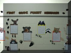 Forest Animals- lots of great ideas for a habitat study