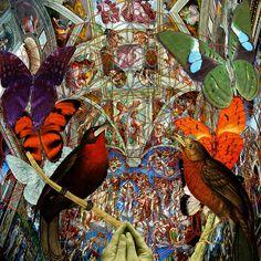 """""""A Catholic Art Gallery"""" Group feature - 'Butterflies Birds And Heart ' http://fineartamerica.com/featured/butterflies-birds-and-heart-joseph-mosley.html"""