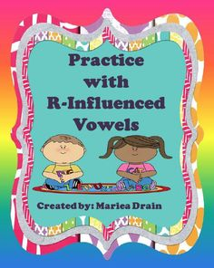 by SPED Creations by Mariea Drain - Grade This free product contains 3 activities for extra practice with r-influenced. Vowel Activities, Fun Classroom Activities, Speech Therapy Activities, Educational Activities, Word Study, Word Work, Teaching Second Grade, Fluency Practice, Co Teaching