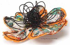 Art Journaling in 3-D - Art Journaling Adventures - Blogs - Cloth Paper Scissors, tutorial on making 3-D Wire Flower.