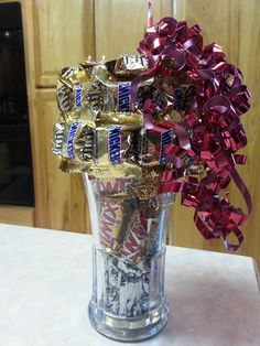 Valentine's Day Snickers Coke Float Bouquet by AnitaEvelyn on Etsy