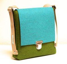 Tasche aus Wollfilz, lederfrei, plastikfrei, biologisch abbaubar, no plastic bag, tasche ohne plastik