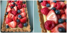 This Lemon Tart is a refreshing treat on a hot day. The almond flour crust adds a nice contrast to the tart lemon filling and the berries on top give an overall sweetness to this easy to make dessert! It's grain free, gluten free, dairy free and refined sugar free. It is Paleo and SCD legal.