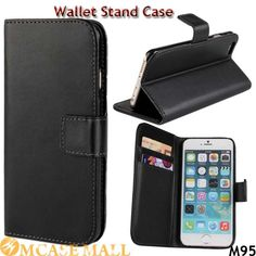 Folio Book Stand Flip Leather Wallet Case for iPhone 6 i6 4.7 Inch Card Holders High Quality Phone Bags Cases,Accept the payment method via Paypal, Escrow, Credit Card, etc...