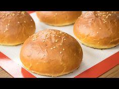 Burger Buns Recipe | Best Eggless Hamburger Buns | Super Soft Bakery Style Breads - YouTube