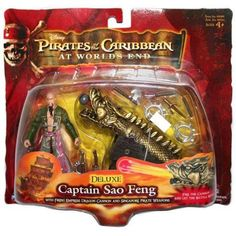 Pirates of the Caribbean Series 3 Captain Sao Feng Action Figure [Deluxe], Multicolor