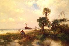 "Thomas Moran (1837-1926), ""Florida Scene"" - Norton Museum of Art ~ West Palm Beach, Florida, USA"