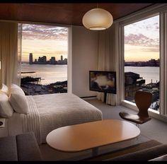 Landscape at bedroom..