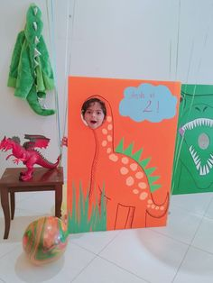 Dinosaur photobooth for a birthday party - Modern - ELİNA 3rd Birthday Party For Boy, Trains Birthday Party, Birthday Party Decorations, Diy Dinosaur Party Decorations, Birthday Ideas, Dinosaur Train Party, Dinosaur Birthday Party, Royce, Ideas Party