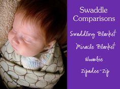 Swaddle Comparisons -   Swaddle Designs   Miracle Blanket   Woombie   Zipadeezip