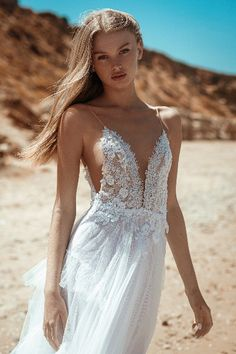 """Beautiful """"Georgina"""" gown from our S/S 2021 bridal collection. We invite you all to see the entire new collection in our website: www.ohadkrief.com Couture Wedding Gowns, Wedding Dresses, Young Fashion, Bridal Collection, Evening Gowns, House Styles, Invite, Inspiration, Beautiful"""