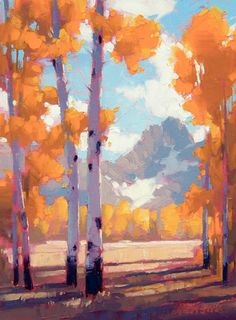 """""""Disclosure"""" by David Mensing. He paints with the brightest fall colors you can imagine."""