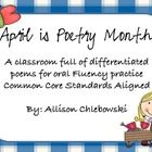 This Common Core aligned unit is a collaboration of 25 differentiated poems based on number of words for students in Grades K, 1, 2, & 3.    This...