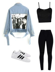 """""""Untitled #2"""" by anyahmccrimmon on Polyvore featuring WearAll and adidas"""