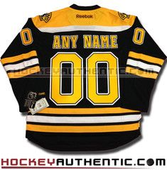 cb2da9f20 Any Name and Number Boston Bruins home Reebok jersey