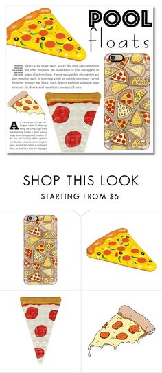 """Pizza Floats"" by montcastanon ❤ liked on Polyvore featuring interior, interiors, interior design, home, home decor, interior decorating, Casetify, Tattly and poolfloats"