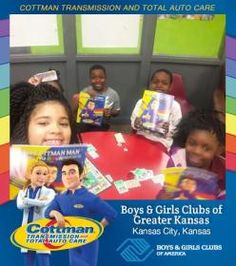Cottman Transmission and Total Auto Care's Coloring Books Travel to the Boys and Girls Clubs of Greater Kansas! #ColorMeCottman