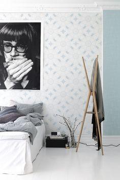 Bedroom,Eco Earth, wall paper.