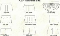Pleats.