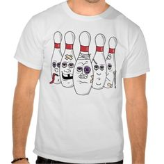 Funny Bowling Pins T Shirt - Clothes, fashion for women, men, teens and kids