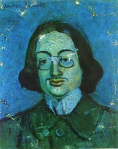 Blue Period Portrait Of Jaime Sabartes With Long Hair