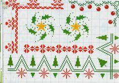Gallery.ru / Фото #1 - ***A punto croce 9*** - Tatiananik Beaded Cross Stitch, Cross Stitch Borders, Cross Stitch Patterns, Knitting Patterns, Christmas Border, Christmas Cross, Vintage Christmas, Christmas Patterns, Vintage Borders