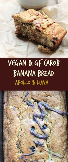 vegan carob banana bread | apolloandluna.com