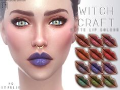 The Sims Resource: Witch Craft  - Matte Lip Colour • Sims 4 Downloads
