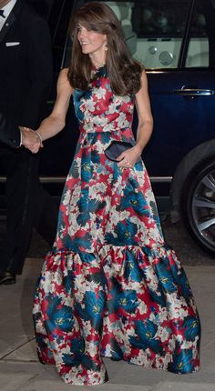 The Duchess of Cambridge is riot of colour in floral dress as she dines out for a second night in a row - Telegraph