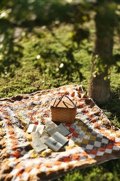 light picnic under a big oak tree, enjoying the day with a book.......thats living.