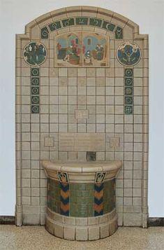 Rookwood Pottery fountain. Old Chemistry, University of Cincinnati