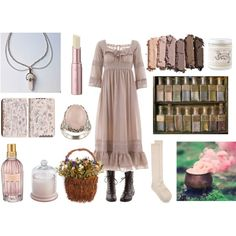 Rose Quartz Witch by maggiehemlock on Polyvore featuring Odd Molly, Kelly & Katie, La Preciosa, Urban Decay, L'Occitane, Too Faced Cosmetics, Pier 1 Imports, Pagan Poetry, women's clothing and women's fashion