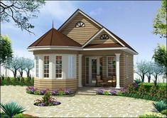 Duplex (2 floor) house design. Area: 80m2 (10m X 8m). Click on this ...
