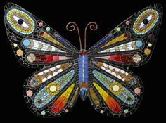 "mosaic butterflies and dragonflies | Mosaic butterfly ""Borboleta"" by Irina Charny"