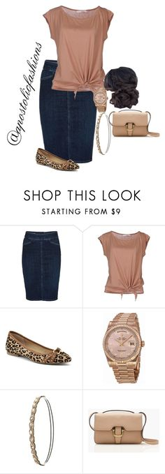 """""""Apostolic Fashions #1696"""" by apostolicfashions ❤ liked on Polyvore featuring Citizens of Humanity, jucca, Sperry, Rolex, Charlotte Russe and J.Crew"""
