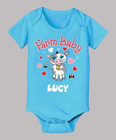 Take a look at this Turquoise 'Farm Baby' Personalized Bodysuit - Infant on zulily today!