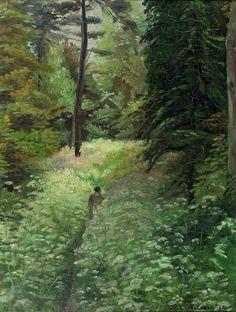 EMILE BERNARD. Walker in the meadow