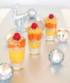 ... Vegan Mango/Raspberry Parfait with Walnut, Coconut & Cardamom Crumble