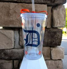 Detroit Tigers Tumbler Great for Baseball by EtcherGirlsExpanded, $9.00 - http://www.etsy.com/listing/165364601/detroit-tigers-tumbler-great-for?ref=market