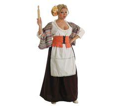 Disfraz de Panadera medieval para mujer 33,75€