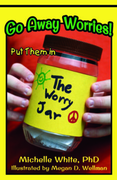 Do you worry? Caleb worries. Find out how he learns to cope with his worries.  The inspiration for Go Away Worries! is based on actual events from the author's life. Michelle White has a PhD in Education and has taught at both the elementary and college level. She has successfully used worry jars for many years with both children and adults. Michelle is also the author of New Opportunities and ScubAbility.