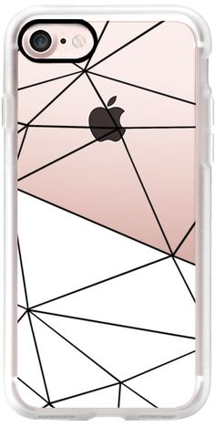 Casetify iPhone 7 Classic Grip Case - Ab Tri White Half Transparent by Project M #Casetify geometric white phone case
