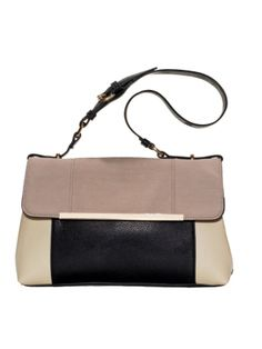 Accessorize Faux Leather Handbag with Metal Detail