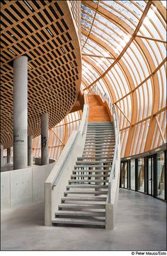 Staircases at Zenith Concert hall in Limoges France by Bernard Tschumi Architects