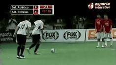 indirect free kick finish in a game of futsal