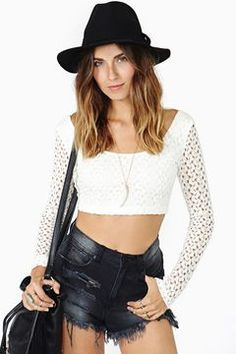 Restless Lace Crop Top on shopstyle.com