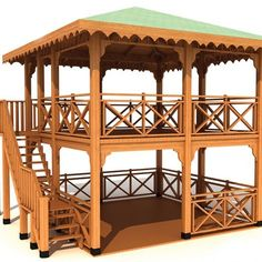 Pergola At Home Depot Gazebo On Deck, Gazebo Plans, Backyard Gazebo, Garden Gazebo, Small Gazebo, Bamboo House Design, Patio Design, Hut House, Gazebos